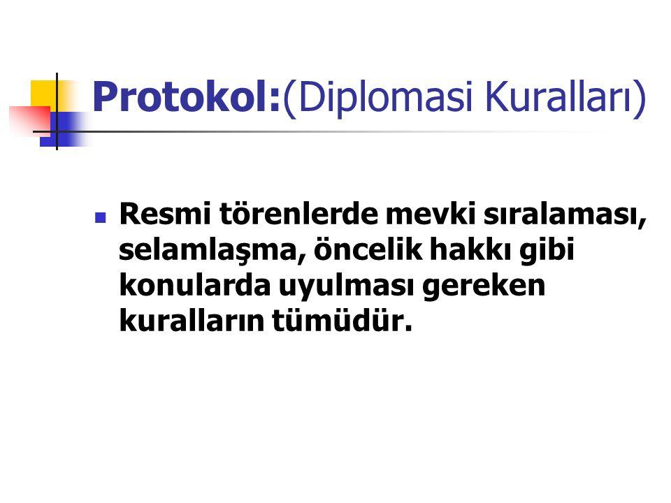 Protokol:(Diplomasi Kuralları)