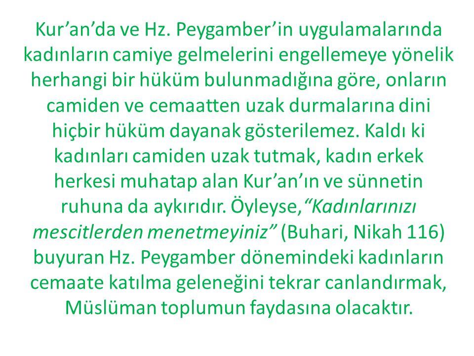Kur'an'da ve Hz.
