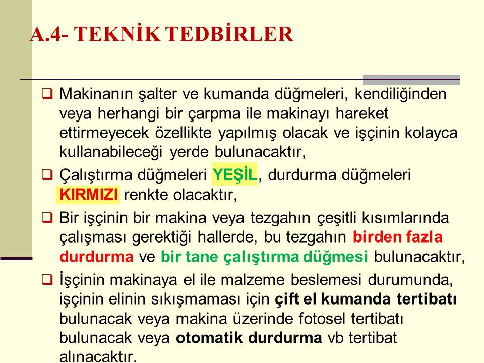 A.4- TEKNİK TEDBİRLER