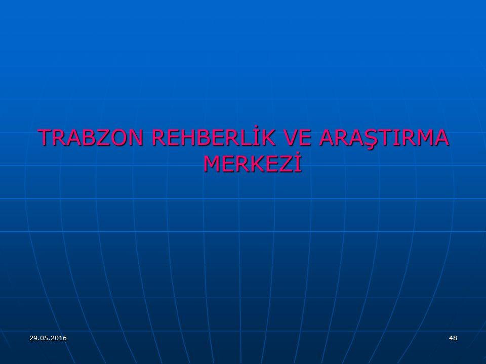 TRABZON REHBERLİK VE ARAŞTIRMA MERKEZİ