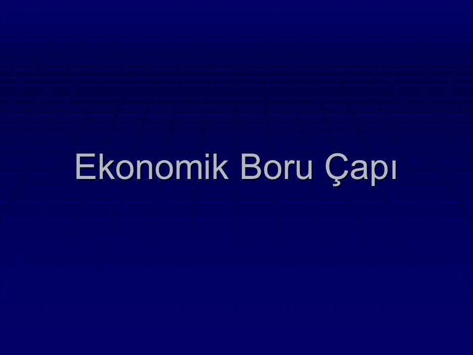 Ekonomik Boru Çapı