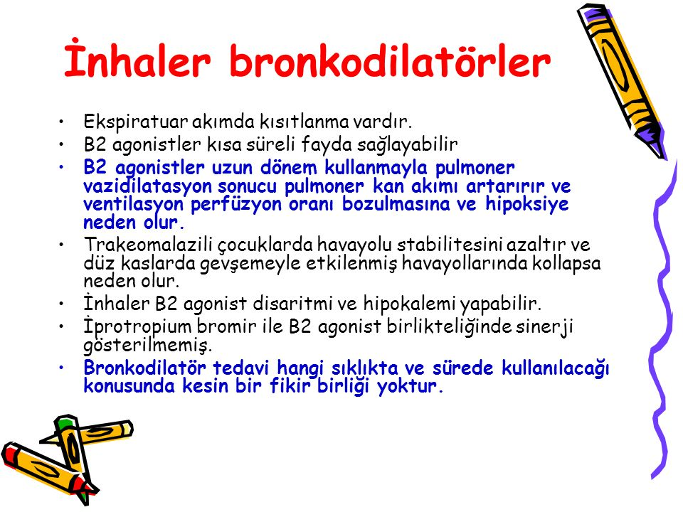 İnhaler bronkodilatörler