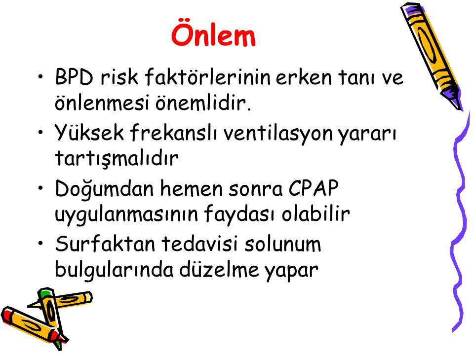 Önlem BPD risk faktörlerinin erken tanı ve önlenmesi önemlidir.