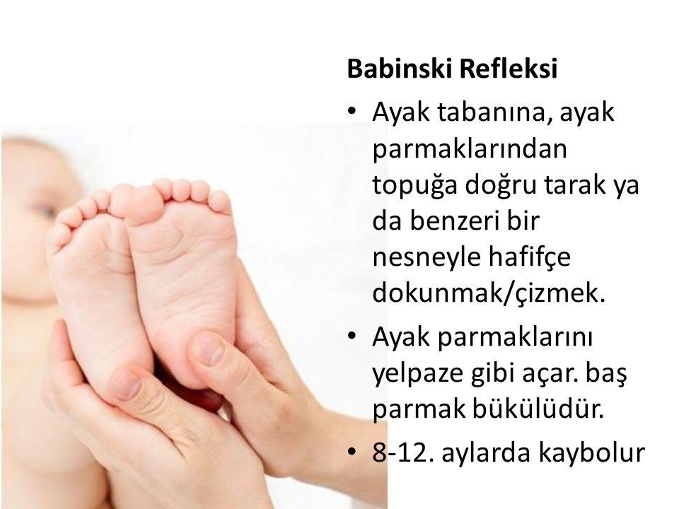 Babinski Refleksi Ayak tabanına, ayak parmaklarından topuğa doğru tarak ya da benzeri bir nesneyle hafifçe dokunmak/çizmek.