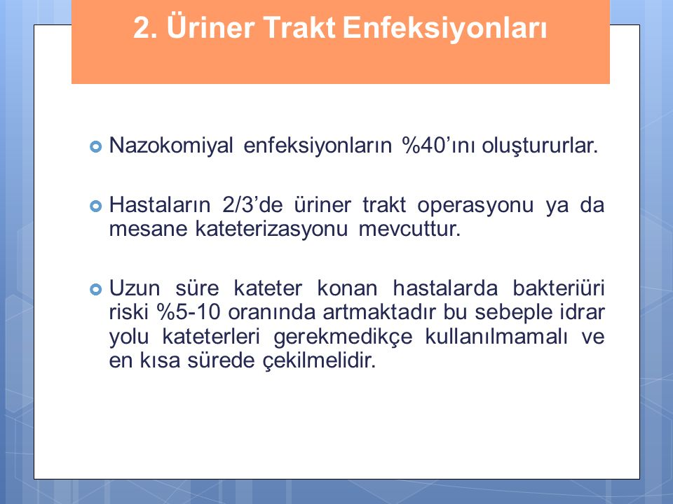 2. Üriner Trakt Enfeksiyonları