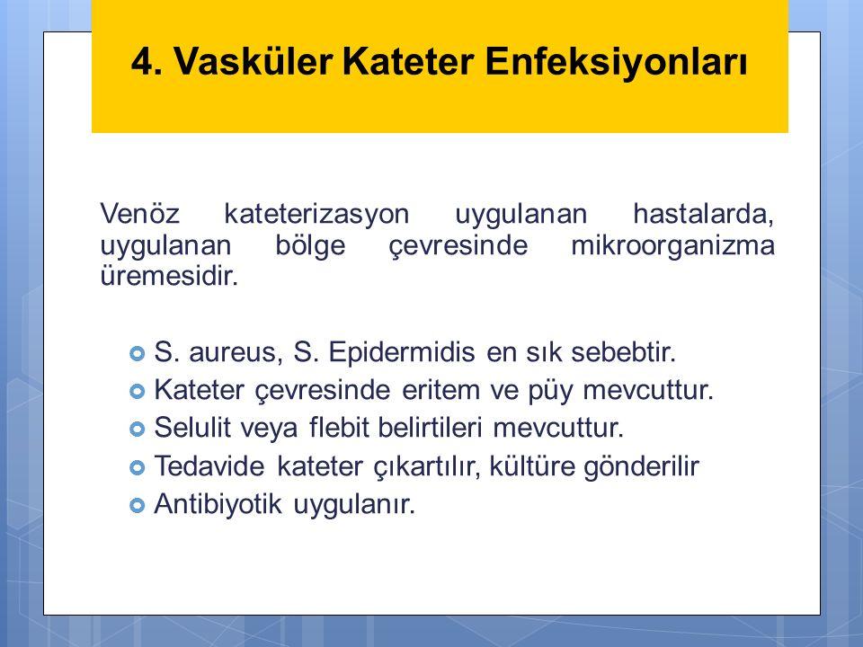 4. Vasküler Kateter Enfeksiyonları