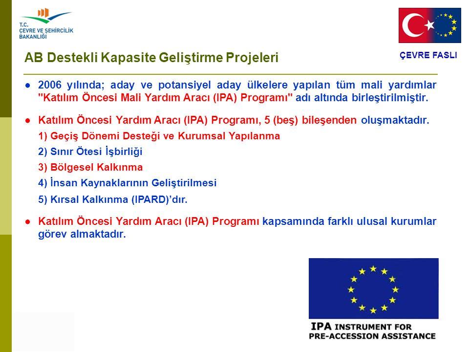 AB Destekli Kapasite Geliştirme Projeleri