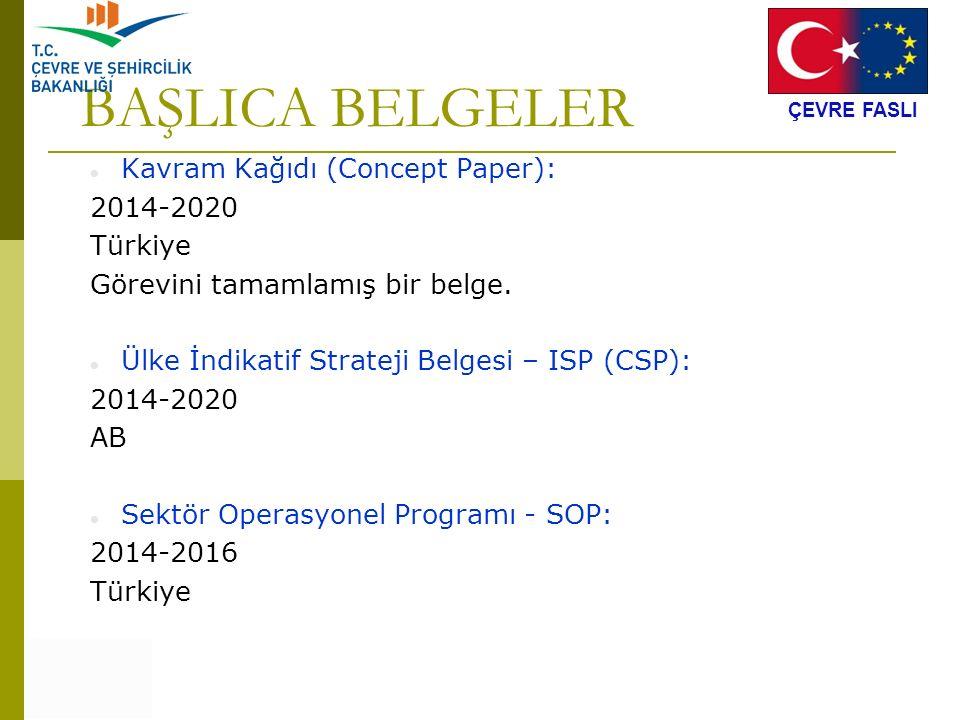 BAŞLICA BELGELER Kavram Kağıdı (Concept Paper): 2014-2020 Türkiye