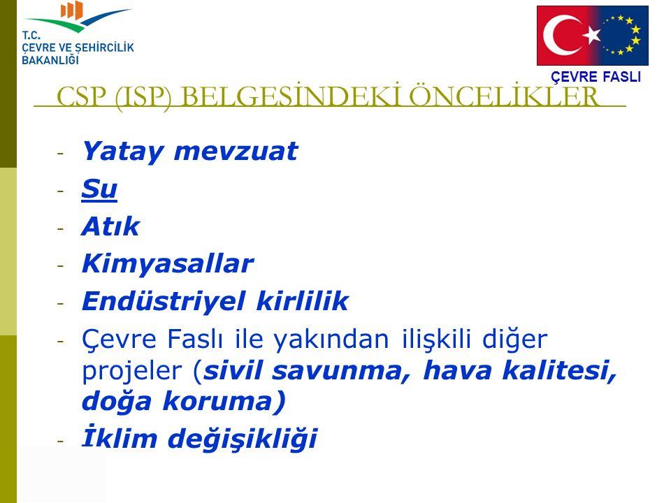 CSP (ISP) BELGESİNDEKİ ÖNCELİKLER