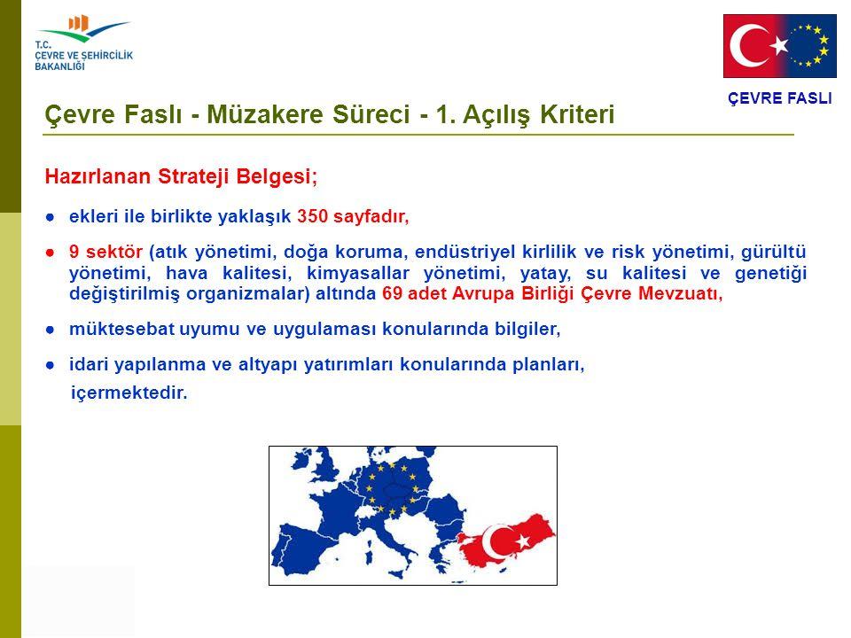 Çevre Faslı - Müzakere Süreci - 1. Açılış Kriteri