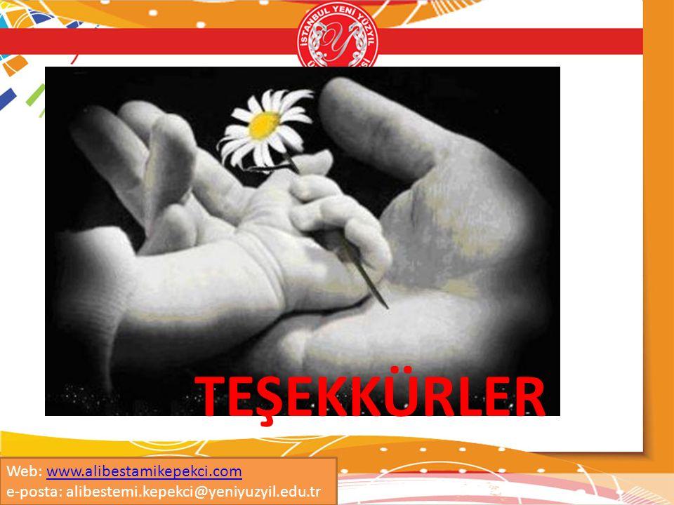 TEŞEKKÜRLER Web: www.alibestamikepekci.com e-posta: alibestemi.kepekci@yeniyuzyil.edu.tr
