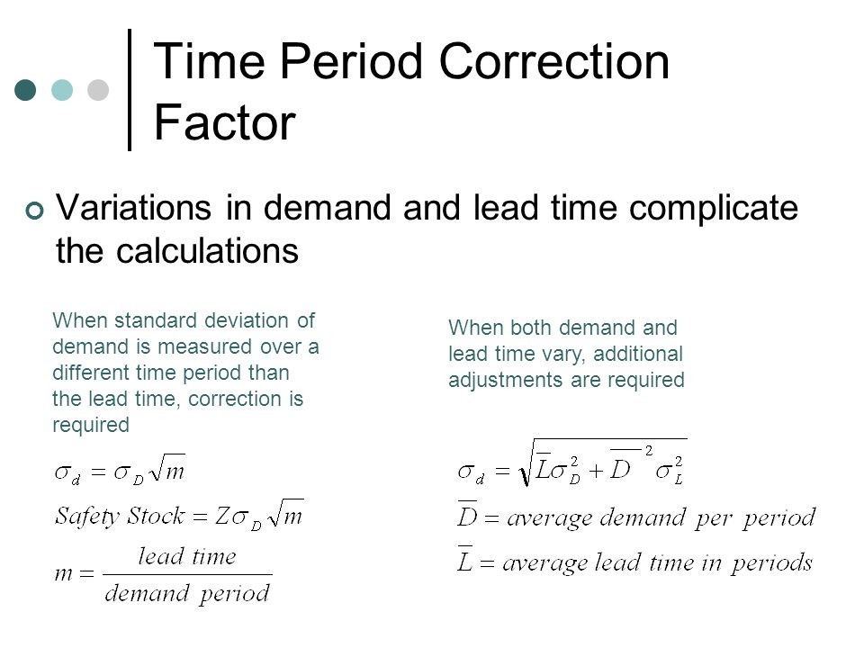 Time Period Correction Factor