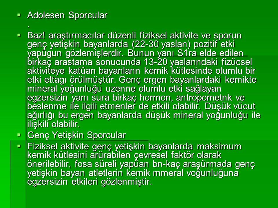 Adolesen Sporcular .