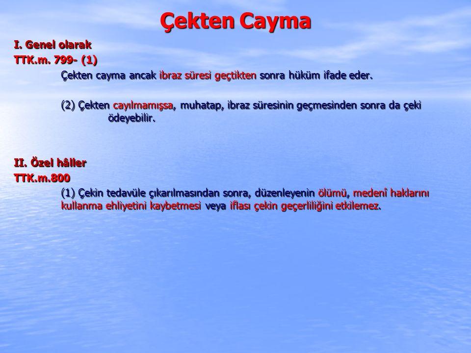 Çekten Cayma