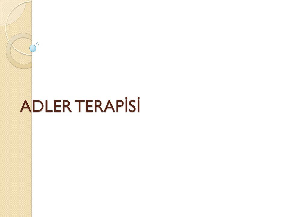 ADLER TERAPİSİ