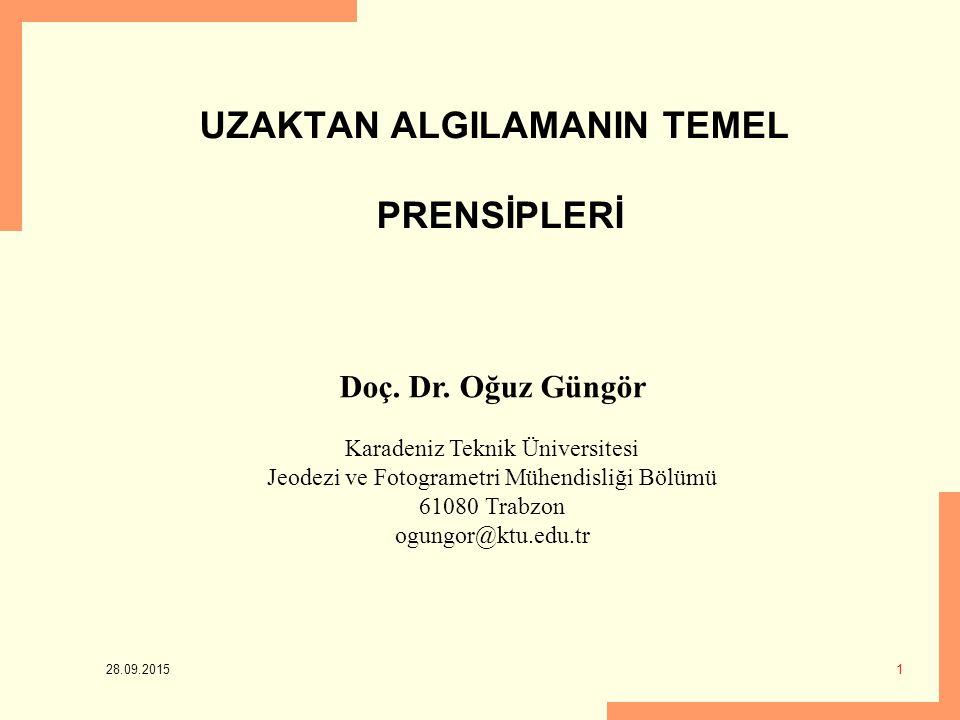 UZAKTAN ALGILAMANIN TEMEL PRENSİPLERİ