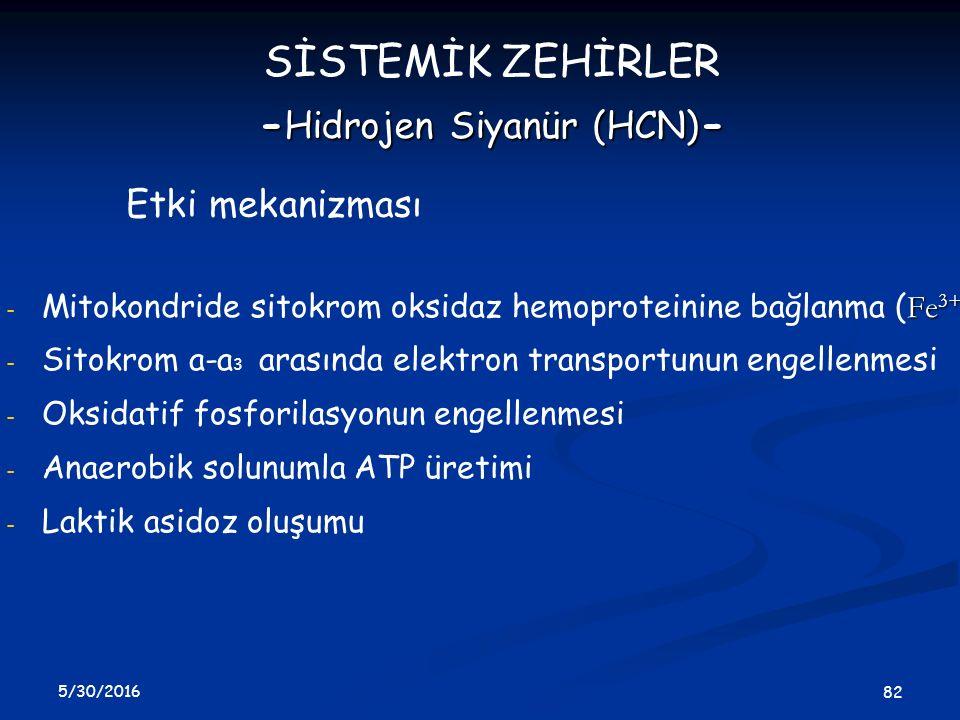 -Hidrojen Siyanür (HCN)-