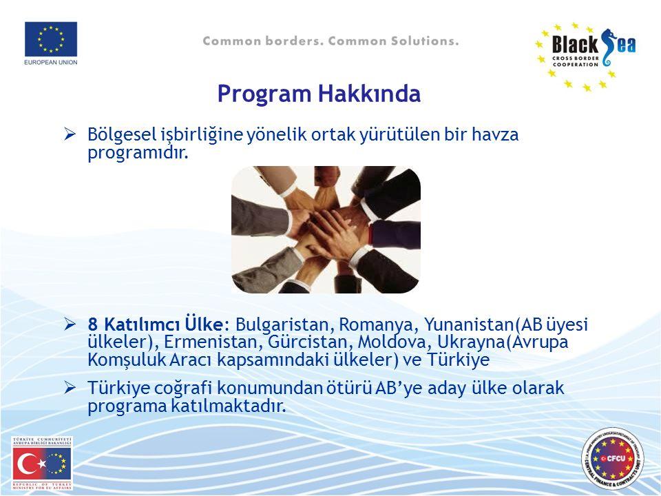 Program Hakkında Bölgesel işbirliğine yönelik ortak yürütülen bir havza programıdır.