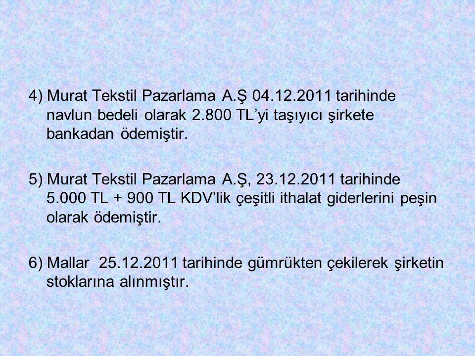 4) Murat Tekstil Pazarlama A. Ş 04. 12