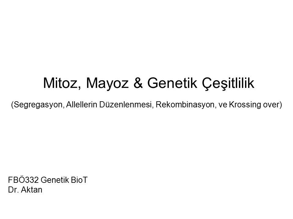 FBÖ332 Genetik BioT Dr. Aktan