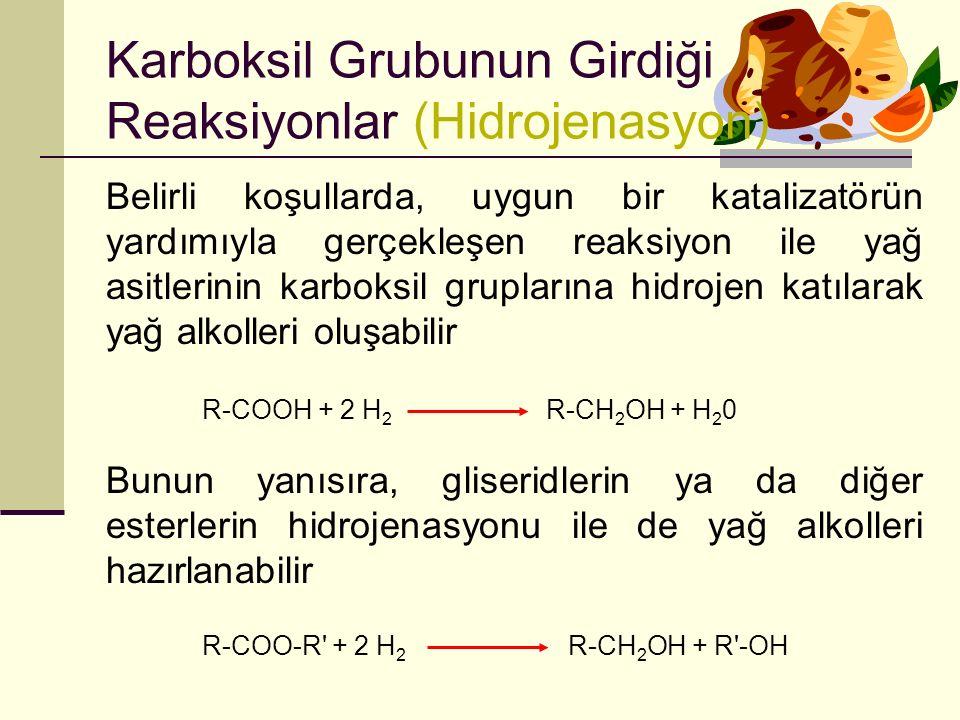 Karboksil Grubunun Girdiği Reaksiyonlar (Hidrojenasyon)