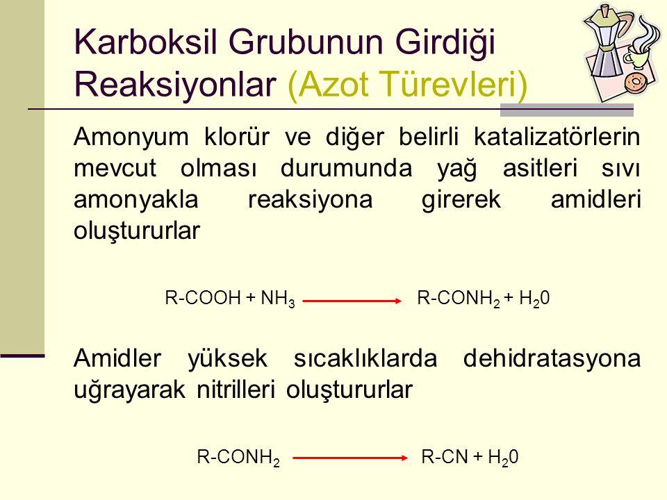 Karboksil Grubunun Girdiği Reaksiyonlar (Azot Türevleri)