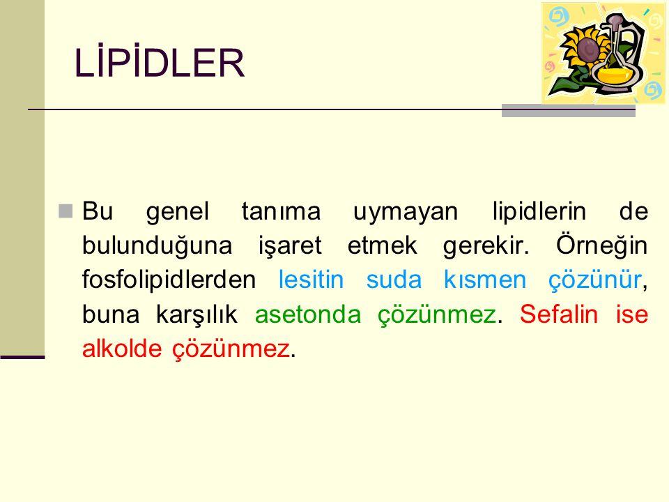 LİPİDLER