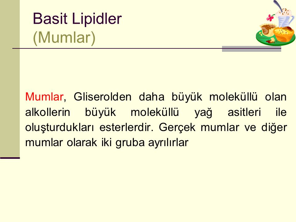 Basit Lipidler (Mumlar)