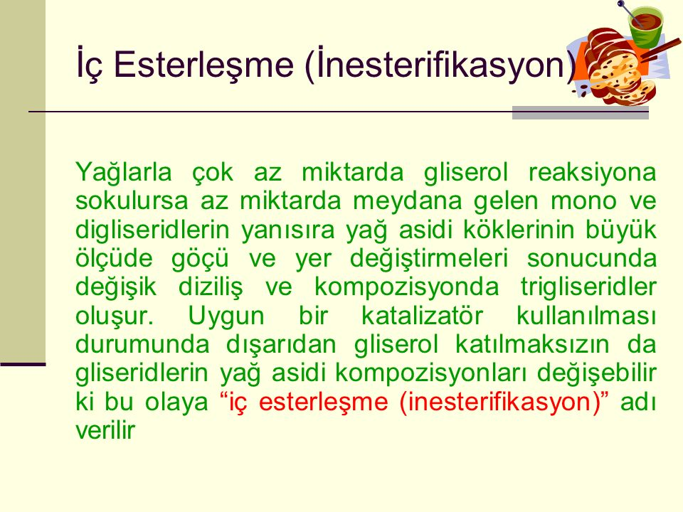 İç Esterleşme (İnesterifikasyon)