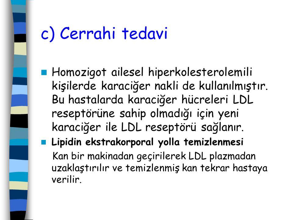 c) Cerrahi tedavi
