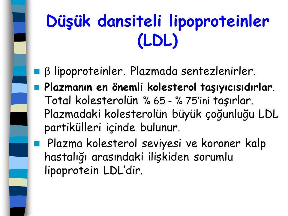 Düşük dansiteli lipoproteinler (LDL)