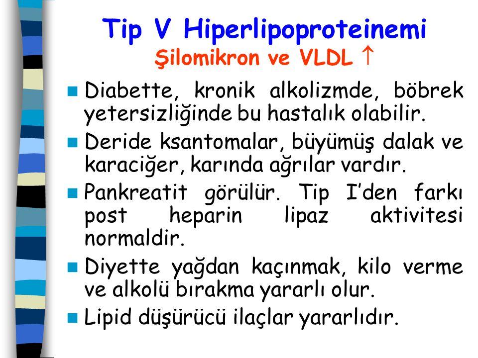Tip V Hiperlipoproteinemi Şilomikron ve VLDL 