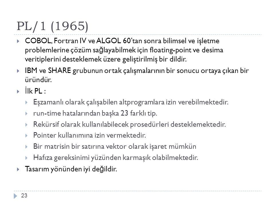 PL/1 (1965)
