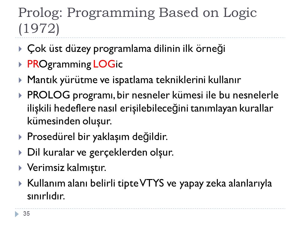 Prolog: Programming Based on Logic (1972)