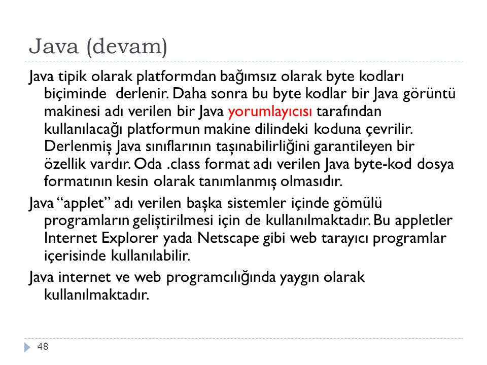 Java (devam)