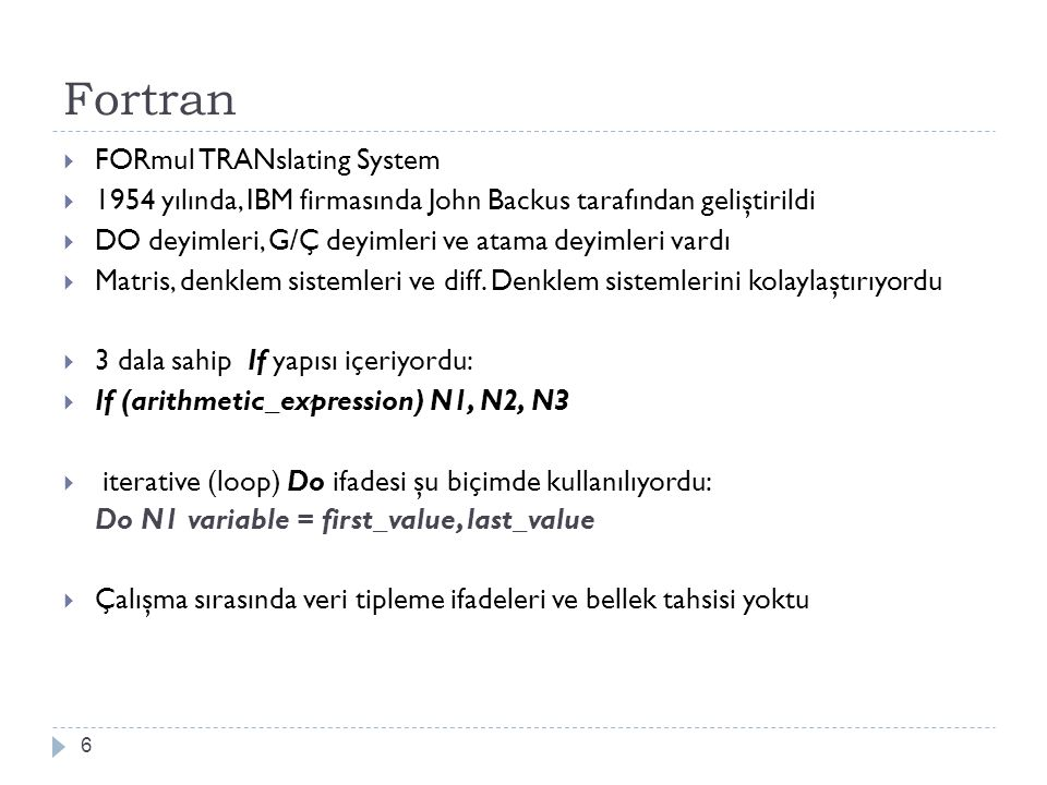 Fortran FORmul TRANslating System