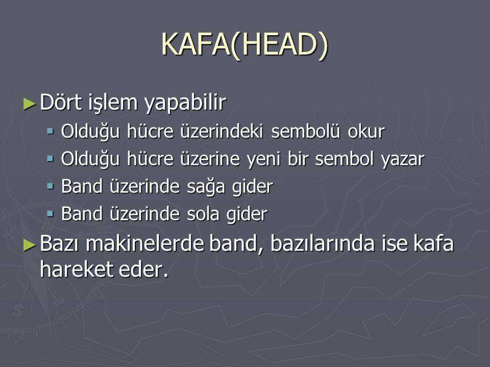 KAFA(HEAD) Dört işlem yapabilir
