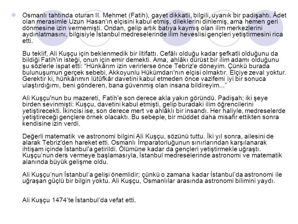 Osmanlı tahtında oturan II