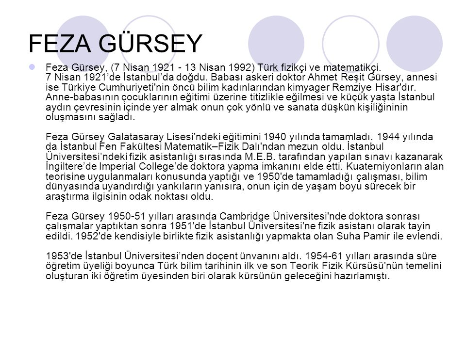 FEZA GÜRSEY