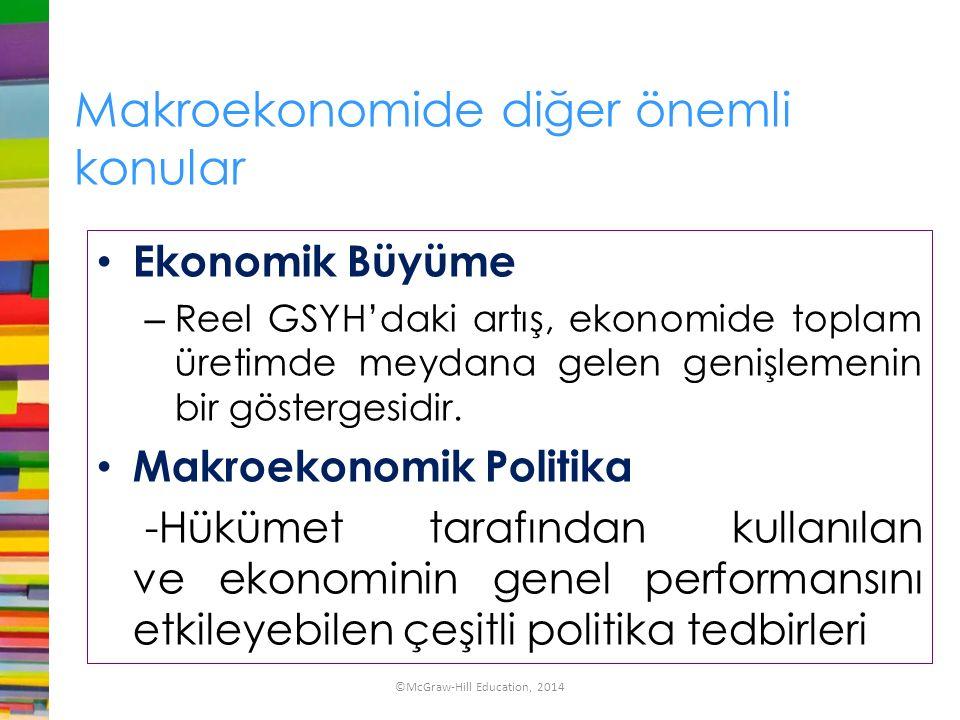 Makroekonomide diğer önemli konular