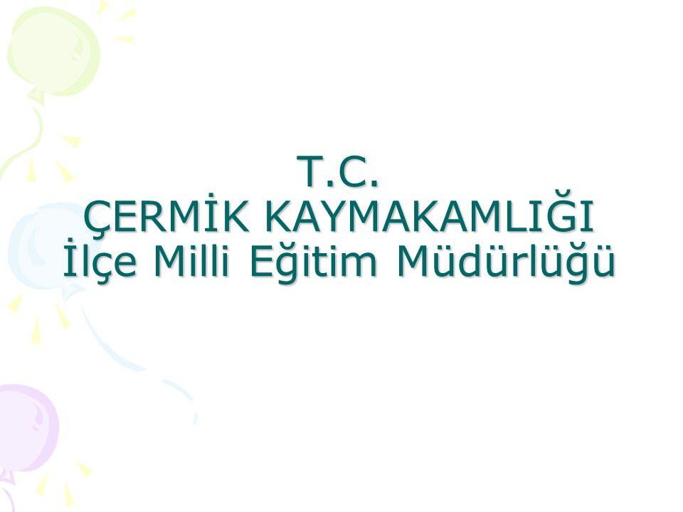 T.C. ÇERMİK KAYMAKAMLIĞI İlçe Milli Eğitim Müdürlüğü