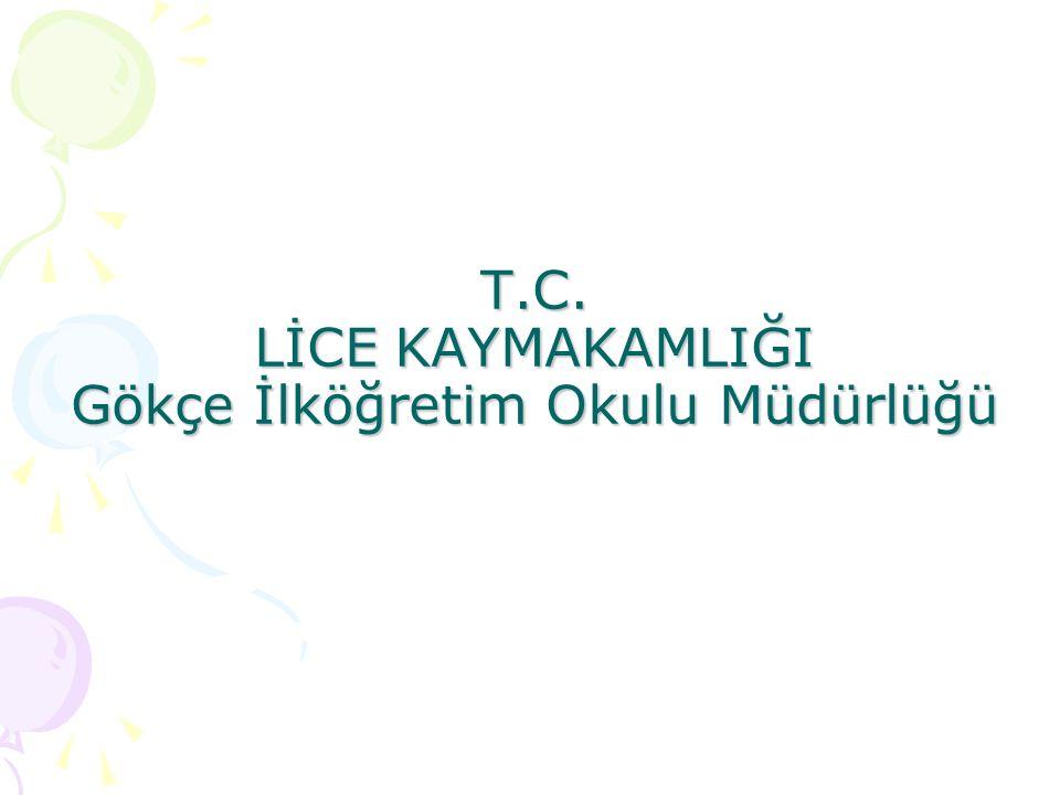 T.C. LİCE KAYMAKAMLIĞI Gökçe İlköğretim Okulu Müdürlüğü