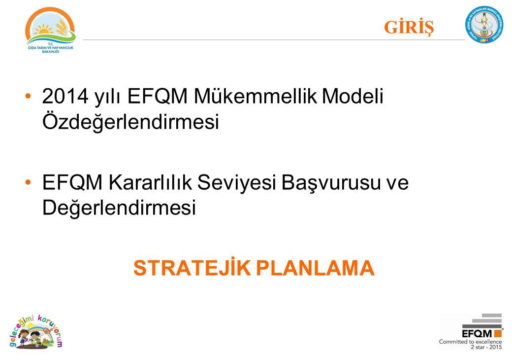 2014 yılı EFQM Mükemmellik Modeli Özdeğerlendirmesi