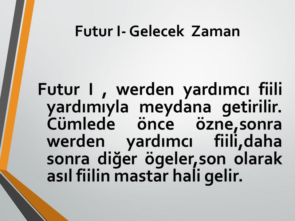 Futur I- Gelecek Zaman