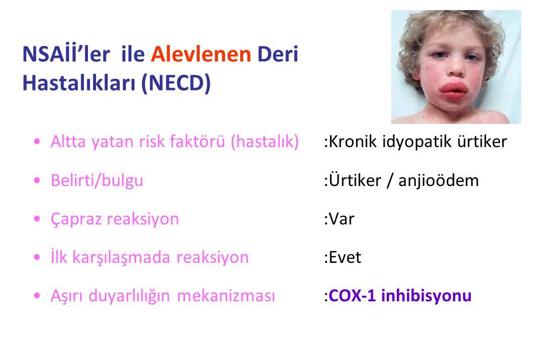 NSAİİ'ler ile Alevlenen Deri Hastalıkları (NECD)