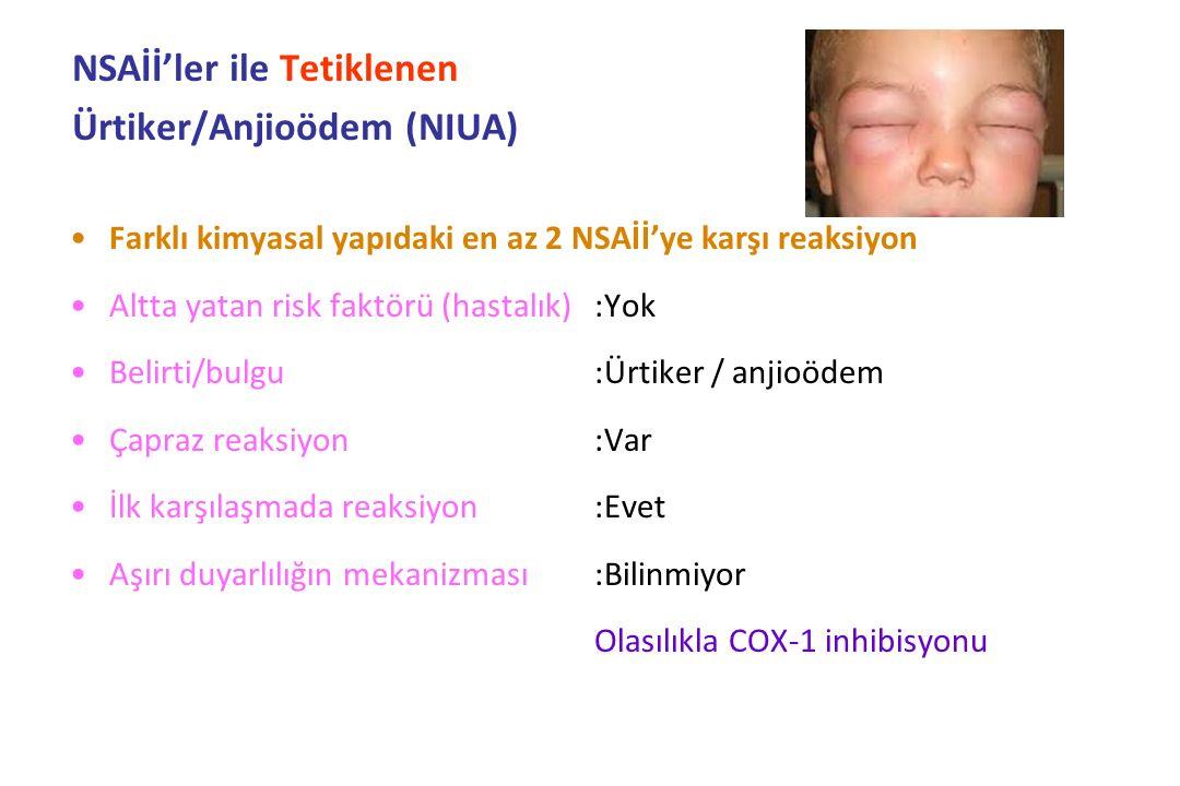 NSAİİ'ler ile Tetiklenen Ürtiker/Anjioödem (NIUA)