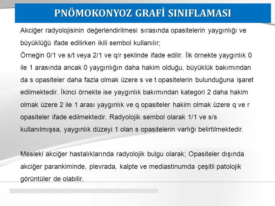 PNÖMOKONYOZ GRAFİ SINIFLAMASI