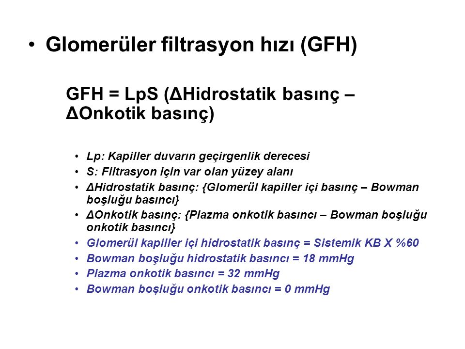Glomerüler filtrasyon hızı (GFH)