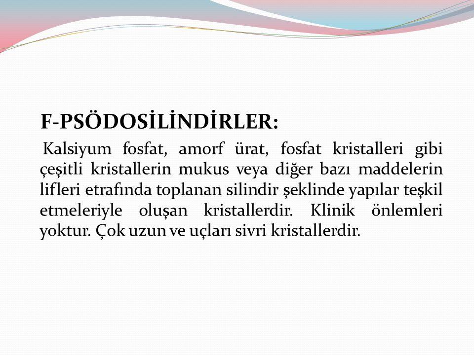 F-PSÖDOSİLİNDİRLER: