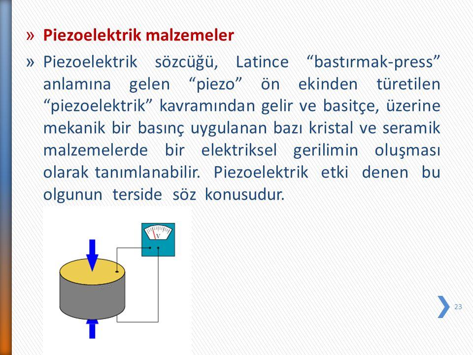 Piezoelektrik malzemeler
